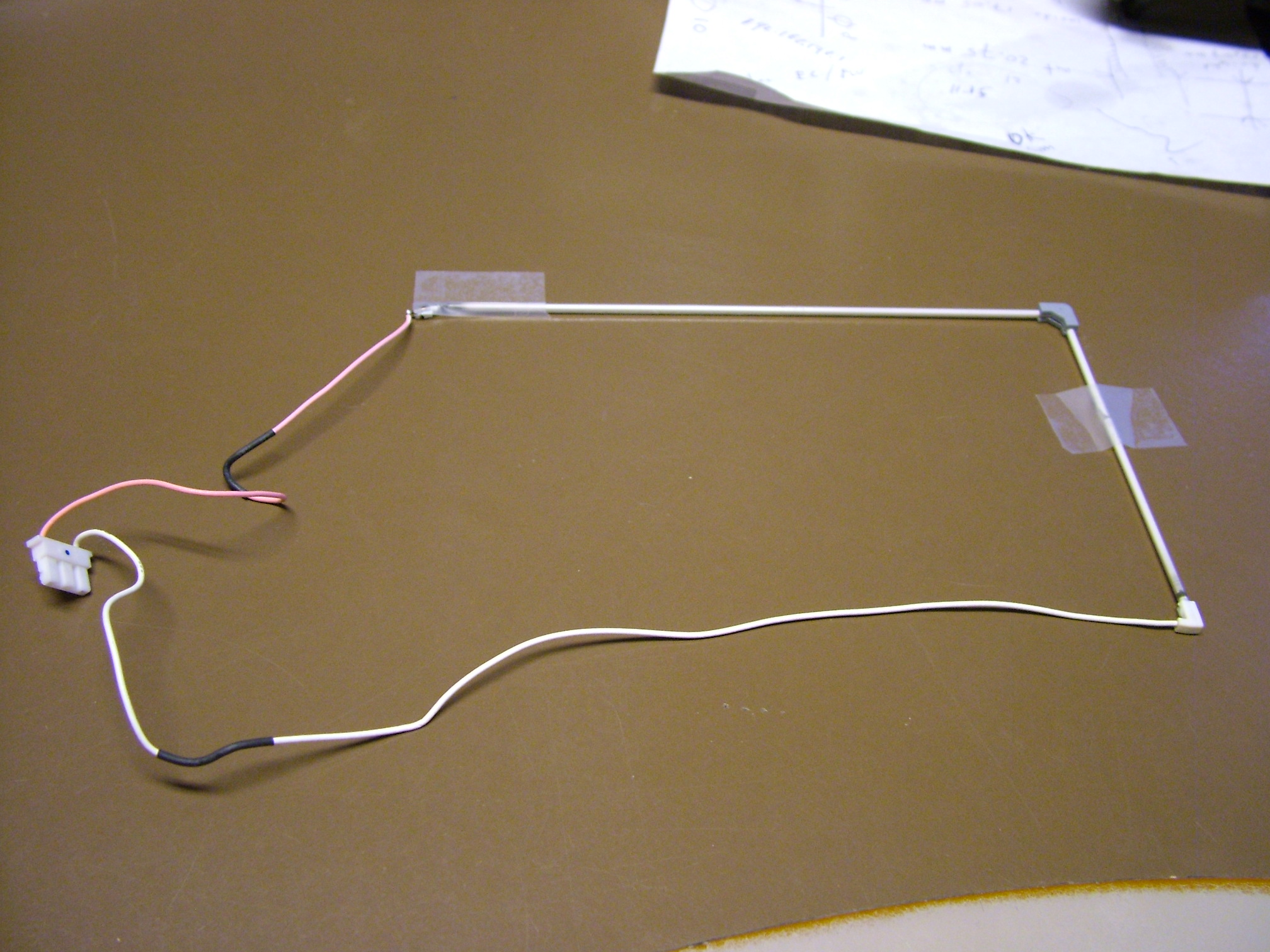 158 x 96 x 2.2mm L shaped bulb with wires and connectors length red wire:14cm ,length white wire 27cm