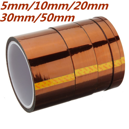 50mm 33m 100ft Kapton Tape High Temperature Heat Resistant Polyimide